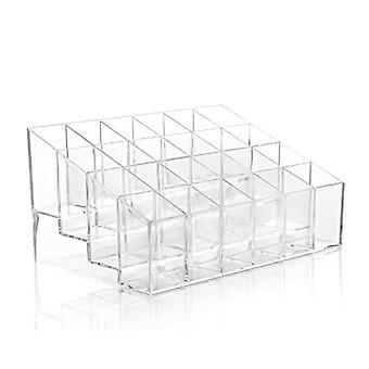 Multiple Grid Acrylic Transparent Makeup Organizer Storage Box Lipstick Nail