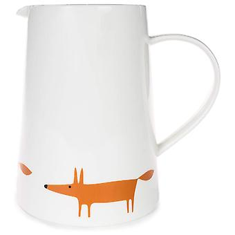Scion Mr Fox Large Jug, White & Orange