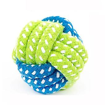 Pet Dog Cat Chew Teeth Clean Green Rope Ball For Outdoor Training, Fun &