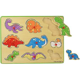 Bigjigs Hračky Chunky Vytahovat Puzzle - Dinosauři