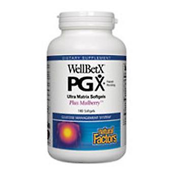 גורמים טבעיים WellBetx PGX, אולטרה מטריקס בתוספת תות 180 כמוסות רכות