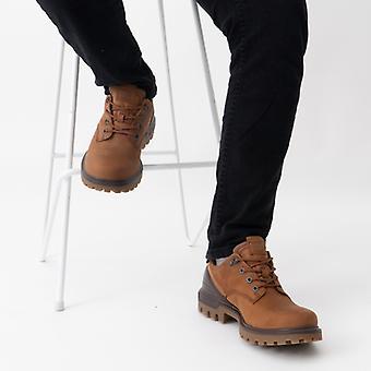 ECCO Tredtray Mens Leather الجلود الأحذية للماء العنبر / الكاكاو براون