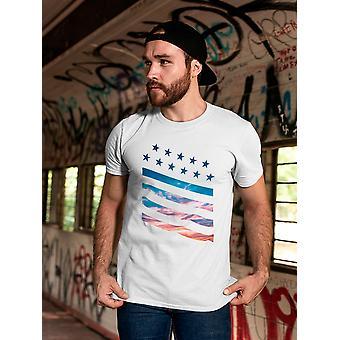 Stjärnor och ränder Landskap Män & apos, s T-shirt
