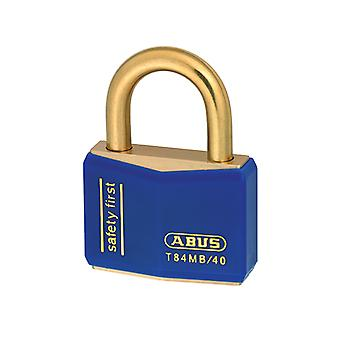 ABUS T84MB/40mm Blue Rustproof Padlock Keyed Alike 8406 ABUKA37826