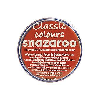 Snazaroo Halloween Fancy Dress Accessories - Classic Colours Water Based Face & Body Paint - Dark Orange 18ml