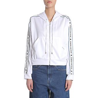 Forte Couture Fc1ss1885whwhbl Women's White Polyester Sweatshirt