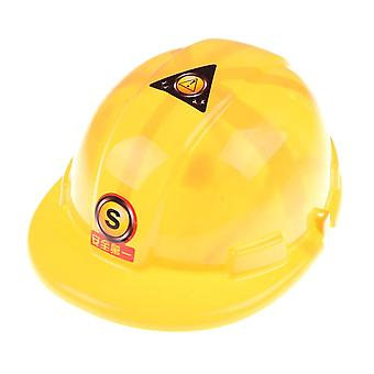 Yellow Safety Helmet, Role Play Hat Toy, Construction Gadgets Creative/ (1)