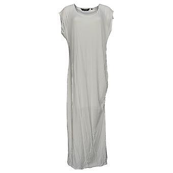 Colleen Lopez Petite Dress Cap Sleeve Round Neck Maxi White 696-765