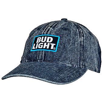 Bud Light Logo Adjustable Denim Hat