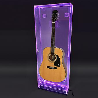 OnDisplay Deluxe Acrylic Wall Mounted/Tabletop UV-Protected Acoustic Guitar Display Case w/Lights