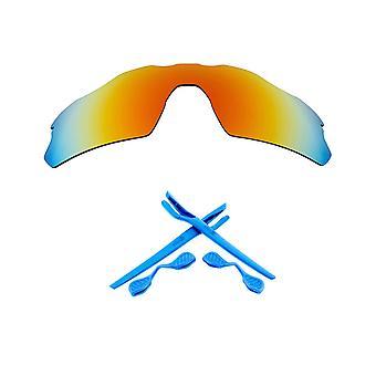 Polarized Replacement Lenses Kit for Oakley Radar EV Pitch Red Mirror Blue Anti-Scratch Anti-Glare UV400 by SeekOptics