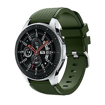 for Samsung Galaxy 42mm / 46mm Watch Wristband Bracelet Band Strap Silicone[46mm,Army Green]