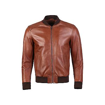 Greer mens wax finish sheep leather jacket