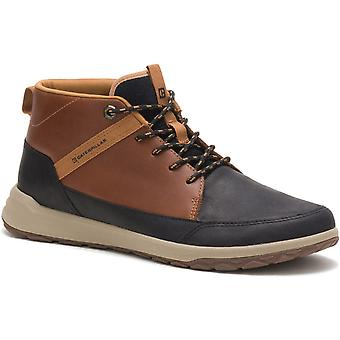 CAT Lifestyle Mens Quest Mid Hi Top Leather Chukka Boots