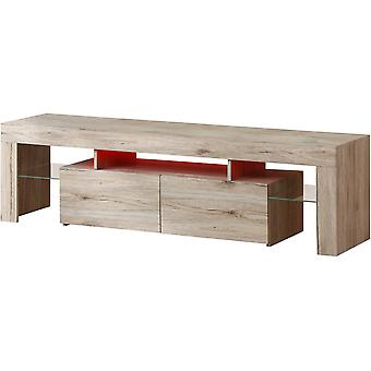 "Mueble TV Led ""Borda"" 160 x 40 x 46 cm - Roble"