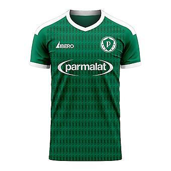 Palmeiras 2020-2021 ערכת כדורגל קונספט ביתי (ליברו) - מבוגר שרוול ארוך