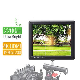 FEELWORLD FW279 7 Inch Ultra Bright 2200nit on Camera Field DSLR Monitor Full HD 1920x1200 4K HDMI Input Output High Brightness for DSLR Stablizer