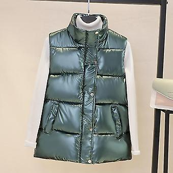 Autumn Waistcoat Glossy Bright/vest Winter Warm/vest  Sleeveless Jacket
