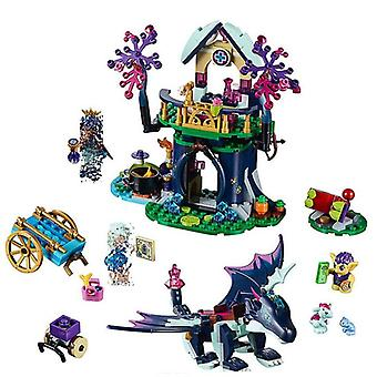 Elves Dragon Rosalyn's Healing, Hideout Tree House, Building Blocks Toy