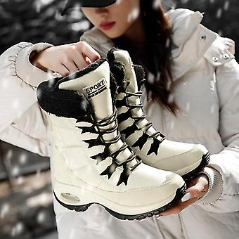 Winter Warm Quality Mid-calf Snow Ladies Lace-up Comfortable Waterproof Boot