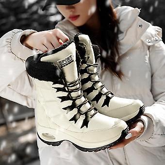 Winter warmQualität Mid-Calf Schnee Damen Lace-up komfortable wasserdichte Boot
