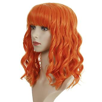 Women's Wig Women's Short Curly Hair Bangs Synthetic Wigs Wig