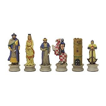The Crusaders Vs Arabs Hand painted themed chess pieces by Italfama