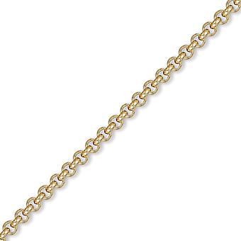 Jewelco London Men's Solid 9ct Yellow Gold Round Belcher 4.8mm Gauge Chain Necklace