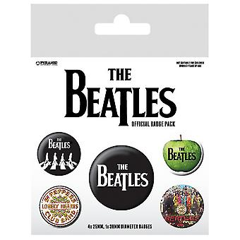 The Beatles White Badge Set (Pack of 5)