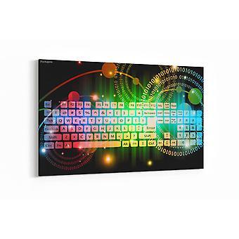 Schilderij - Abstracte kunst kleurrijke achtergrond — 100x70cm