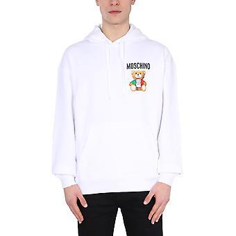 Moschino 173420271001 Heren's White Cotton Sweatshirt