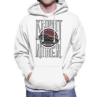 Knight Rider Text och Logo Män's Hooded Sweatshirt