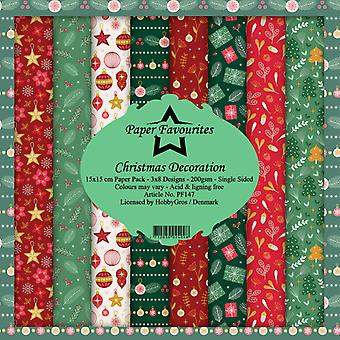 Paper Favourites Christmas Decoration 6x6 Inch Paper Pack