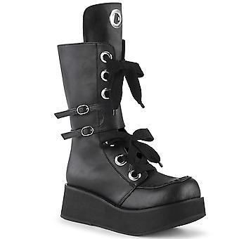 Demonia Kvinder's Støvler SPRITE-210 Blk Vegan læder