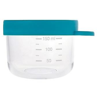 Beaba Blue Glass and Silicone Bottle 150 ml