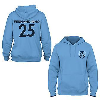 Fernandinho 25 Klubbstil Spelare Hoodie