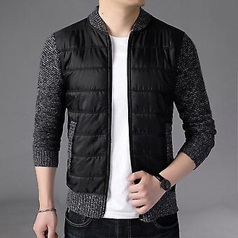 Winter Warm- Cashmere Wool, Zipper Cardigan, Casual Knitwear Coat