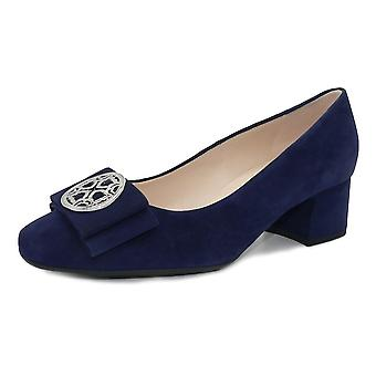 Peter Kaiser Patty Wide Fit Court Shoes In Notte Suede