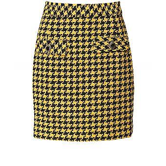 RIXO Mariah Dogtooth Mini Skirt