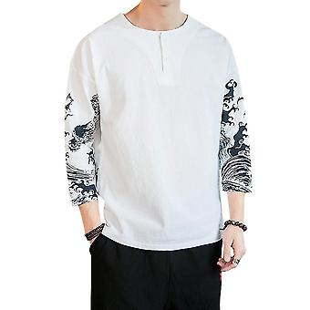Men's Printed Color Block T-shirt