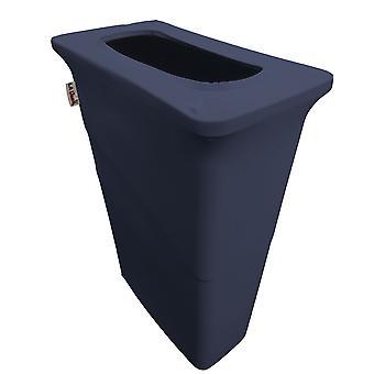 La Linen Stretch Spandex Trash Can Cover For Slim Jim 23-Gallon, Navy