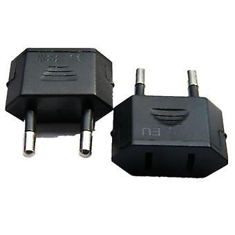 Cn Us To Eu Plug Adapter 2 Pyöreä Nastat Socket Converter Matkustaa Sähkövirta