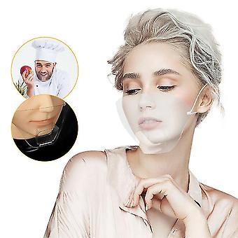 قناع متين الوجه درع قابل لإعادة الاستخدام حماية شفافة واضحة