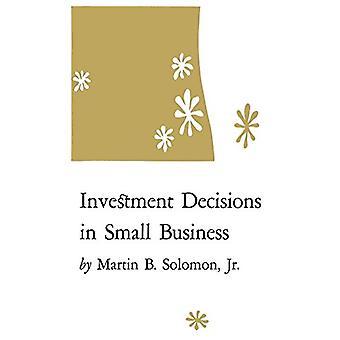Martin B. Solomanin pienyritysten investointipäätökset - Jr. - 9