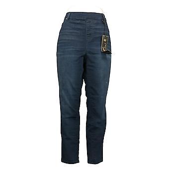 DG2 Af Diane Gilman Women's Petite Pants Denim 5-Pocket Jegging Blue 718711