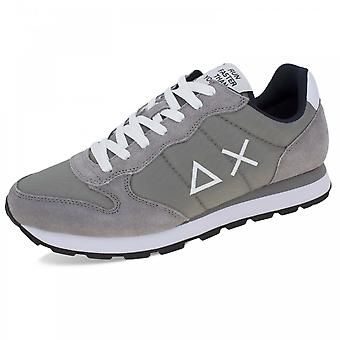 Running Sun68 Tom Solid Suede/ Nylon Grey Medium Us21su14 Z31101 Sneaker