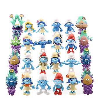 24pcs Figure Set The Schtroumpfs Toy Doll Anime Collection