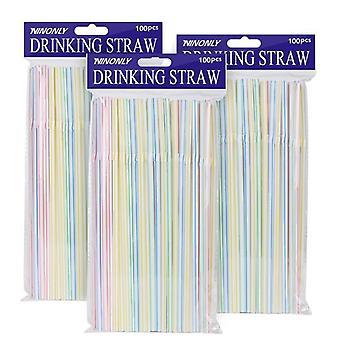 Cannucce di plastica flessibili usa e getta a strisce