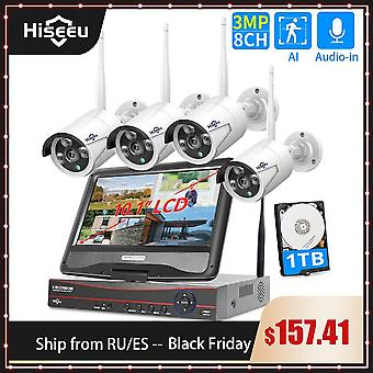 8ch 3mp Wireless Surveillance Camera Cctv Kit