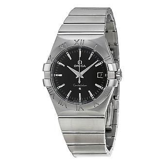 Omega Constellation 09 Quartz Black Dial Men's Watch 123.10.35.60.01.001